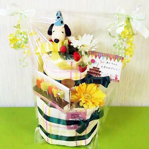 スヌーピーのおむつケーキ