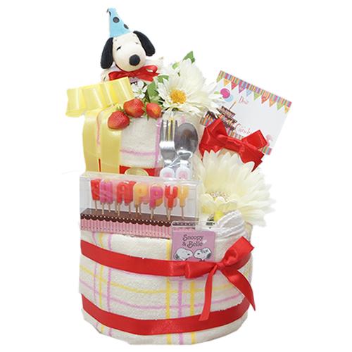 【完売のお知らせ】スヌーピーのおむつケーキ