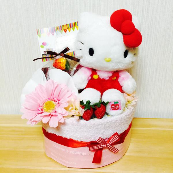 オーダーメイドおむつケーキ「キティちゃん」