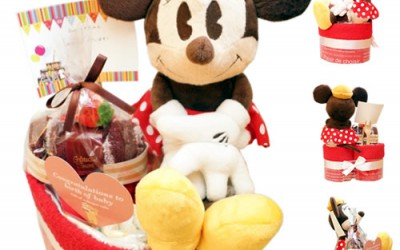 【新発売】ミニーちゃんのハート型おむつケーキ