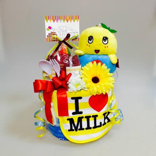 オーダーメイドおむつケーキ【ふなっしー】