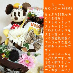 ミニーちゃんおむつケーキ