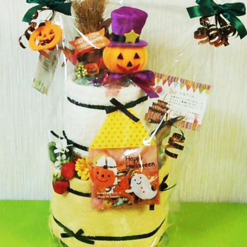 ハロウィンのおむつケーキ2段|ベビーギフト.com