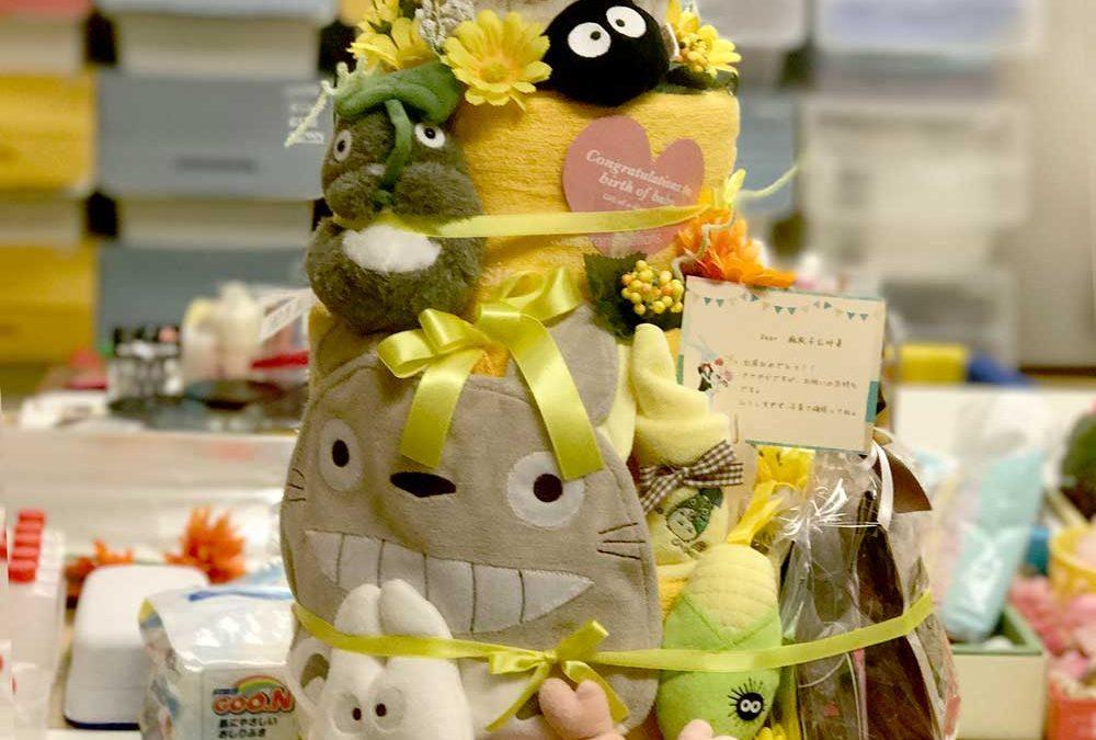 トトロのオーダーメイドおむつケーキ